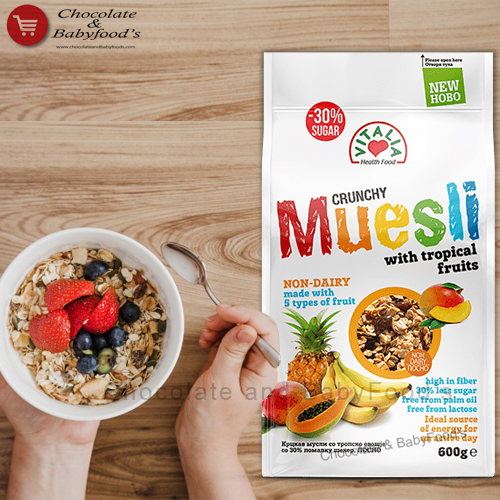 Vitalia Crunchy Muesli Tropical Fruit 600g