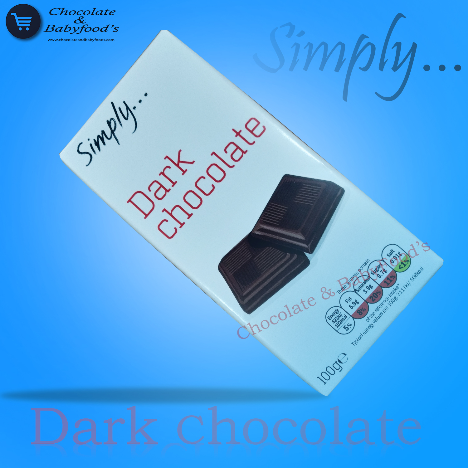 Simply Dark Chocolate 100gm