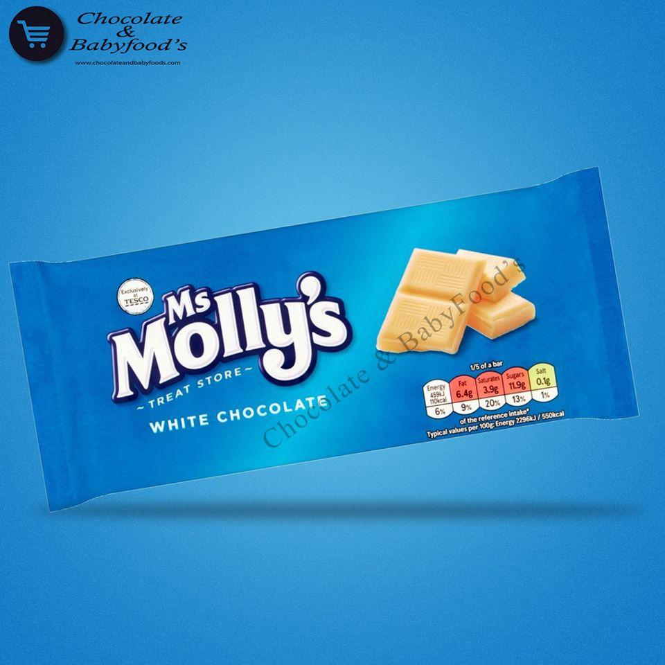 Tesco Ms Molly's White Chocolate Bar