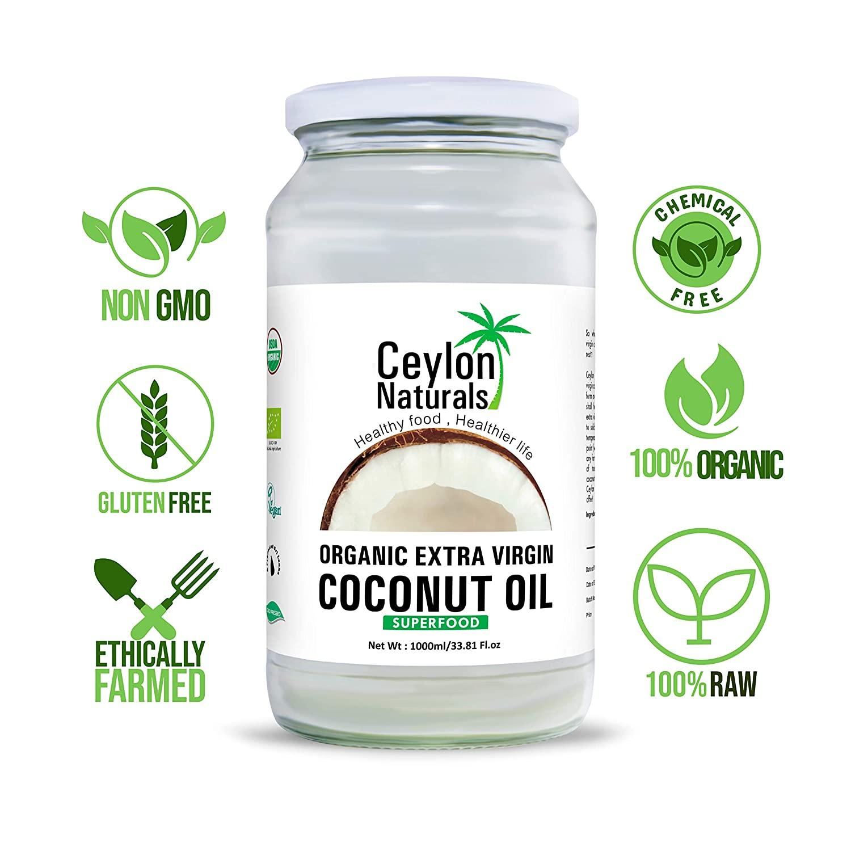 Ceylon Naturals Organic Extra Virgin Coconut Oil 1000ml
