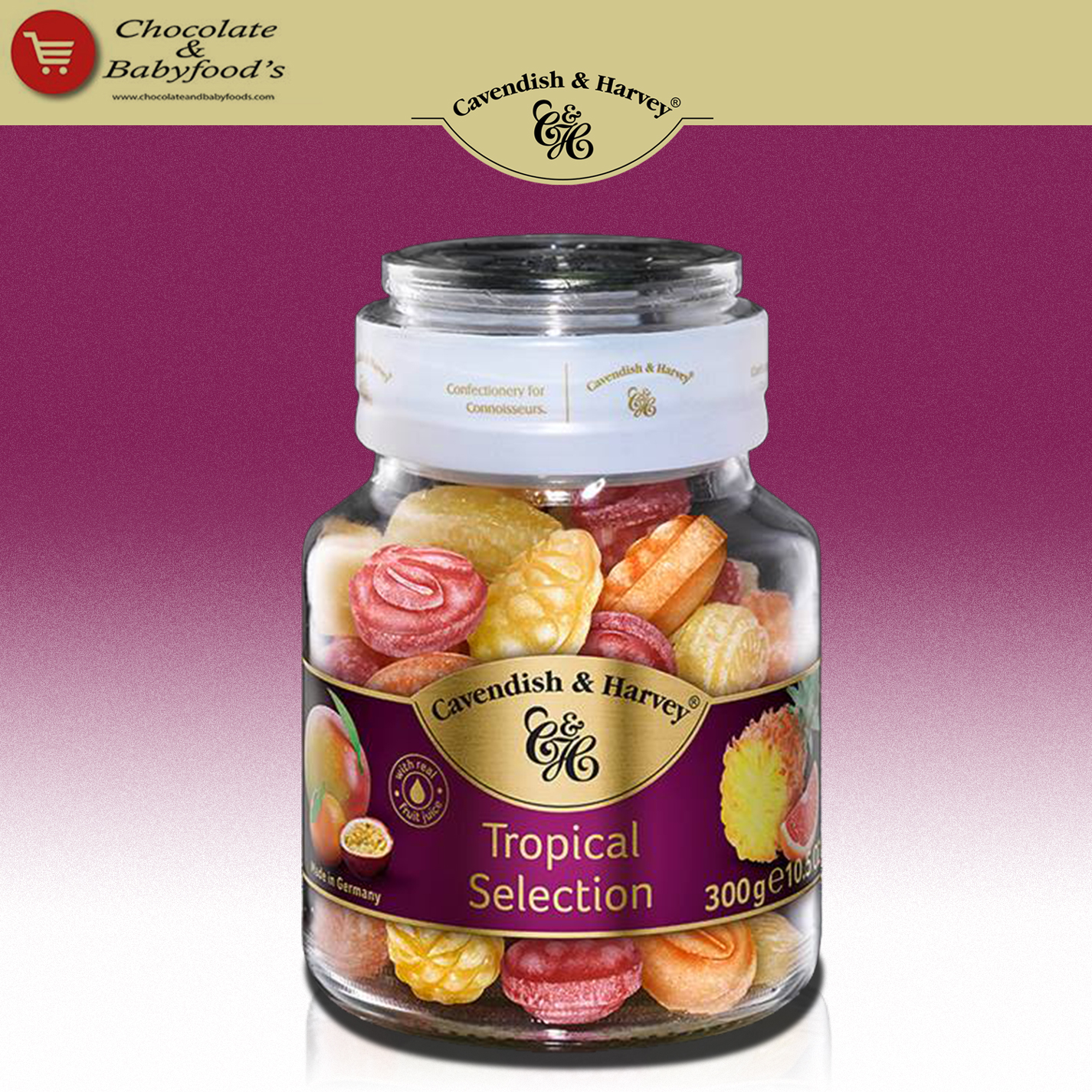 Cavendish & Harvey Tropical Selections 300g