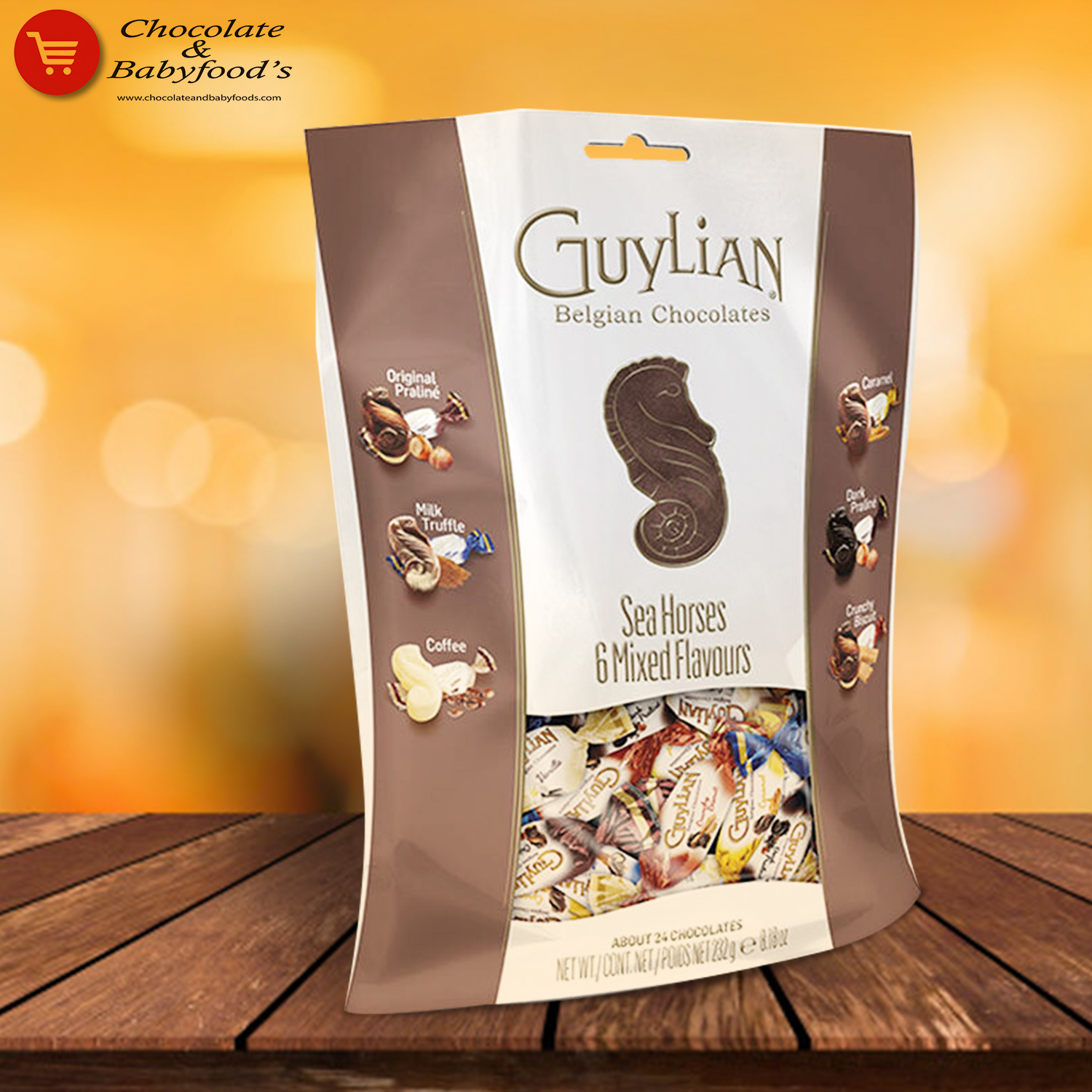 Guylian Belgian Chocolate Sea Horses  6 Mixed Flavoure