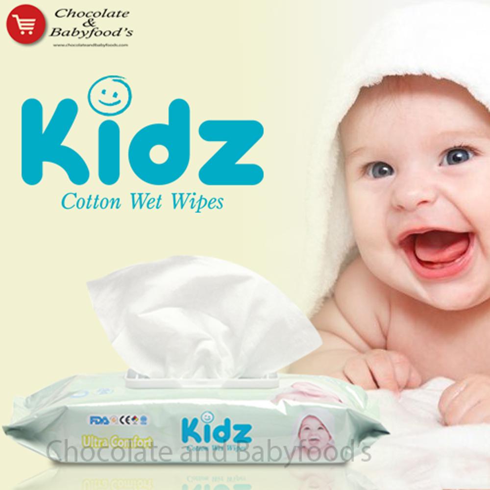 Kidz Ultra comfort cotton wet wipes