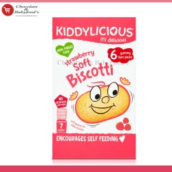 Kiddylicious Strawberry Soft Biscotti from 7+ months