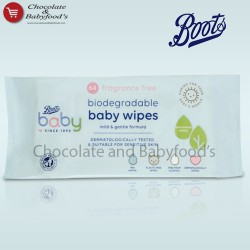 Boots Gently Free Fragrancea biosegrable baby wipes 64pcs pack