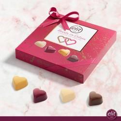 Elit Hearts in Colors Chocolate Praline