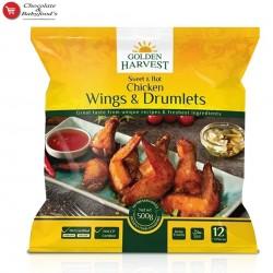 Golden Harvest sweet & Hot Chicken Wings & Drumlets 500gm