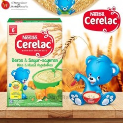 Nestle Cerelac Rice & Mixed Vegetables 225g