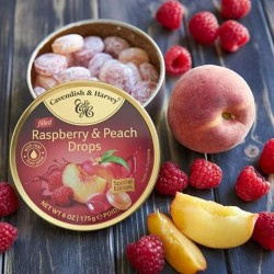 Cavendish & Harvey Raspberry & Peach drops 175g