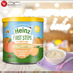 Heinz creamy peach & apricot porridge 4+ mnth