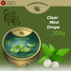 Cavendish & Harvey Clear Mint drops 200g