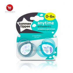 Tommee tippee any time orthodontic soother 0-6mnth