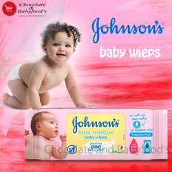 Johnson's extra sensitive baby wipes 56pc's