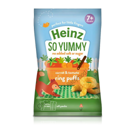 Heinz So Yummy carrot & tomato ring puffs