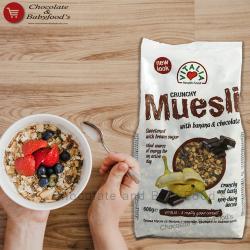 Vitalia crunchy muesli with banana & chocolate 600 gm