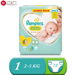 Pampers Jumbo pack Premium Protection Size- 1 (Diaper Belt)